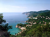 Panorama przed Tossa de Mar (9 KB)